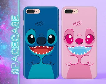 Stich and Angel Gift for Couples Valentine's gift iPhone 7 Case iPhone 8 Case Samsung S7 Case Galaxy S8 Case Double iPhone Case Phone Set