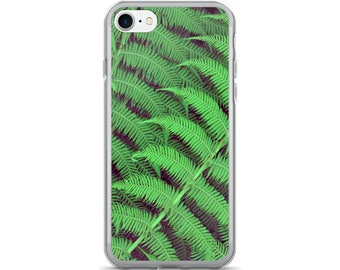 Fern iPhone Case - Botanical Green Forest iPhone 7/7 Plus Case Nature Lover Fern Phone Case Gardeners, plant lovers Gift