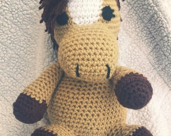 Crochet Stuffed Horse