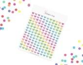 Pastel Confetti Hearts Stickerset-Watercolor sticker-pretty planning-scrapbooking-bullet journaling