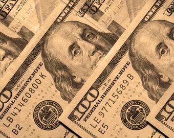 Modern contemporary artwork of Ben Franklin, Money Photography, Fine art, 100 dollar bill, Poster, Office art, Printable Digital download