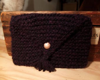 Wool lined fabric pouch