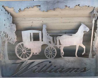 Horse and Carriage with last name
