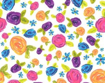Rainbow Floral Crib Sheet - Fitted Crib Sheet - Standard Crib Sheet - Toddler Sheet - Baby Sheet - Baby Bedding - Cot Sheet
