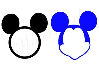 Blank Mouse Face SVG and Studio3 Cut File for Silhouette Cricut Designs Disney Logo Logos Decals SVGs Cutouts Files Downloads Faces Mickey