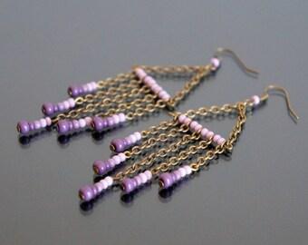 Earrings Pink - Purple.