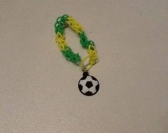 """Bracelet """"Brazil"""" handmade with elastic."""