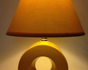 Art Deco Mid Century Lamp-Ceramic- Unique-Round circle