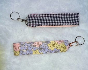 Girly Pink Key Chain Wristlet