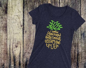 Psych Pineapple Theme Song Psych Inspired Ladies' short sleeve t-shirt
