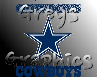 Dallas Cowboys Primary Logo with Logotype Full Color - SVG - DXF - EPS - Vectors