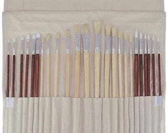 Brand New Art Advantage Oil and Acrylic Brush Set, 24 Piece