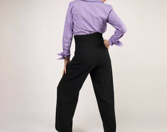 Palazzo trousers, High-waisted