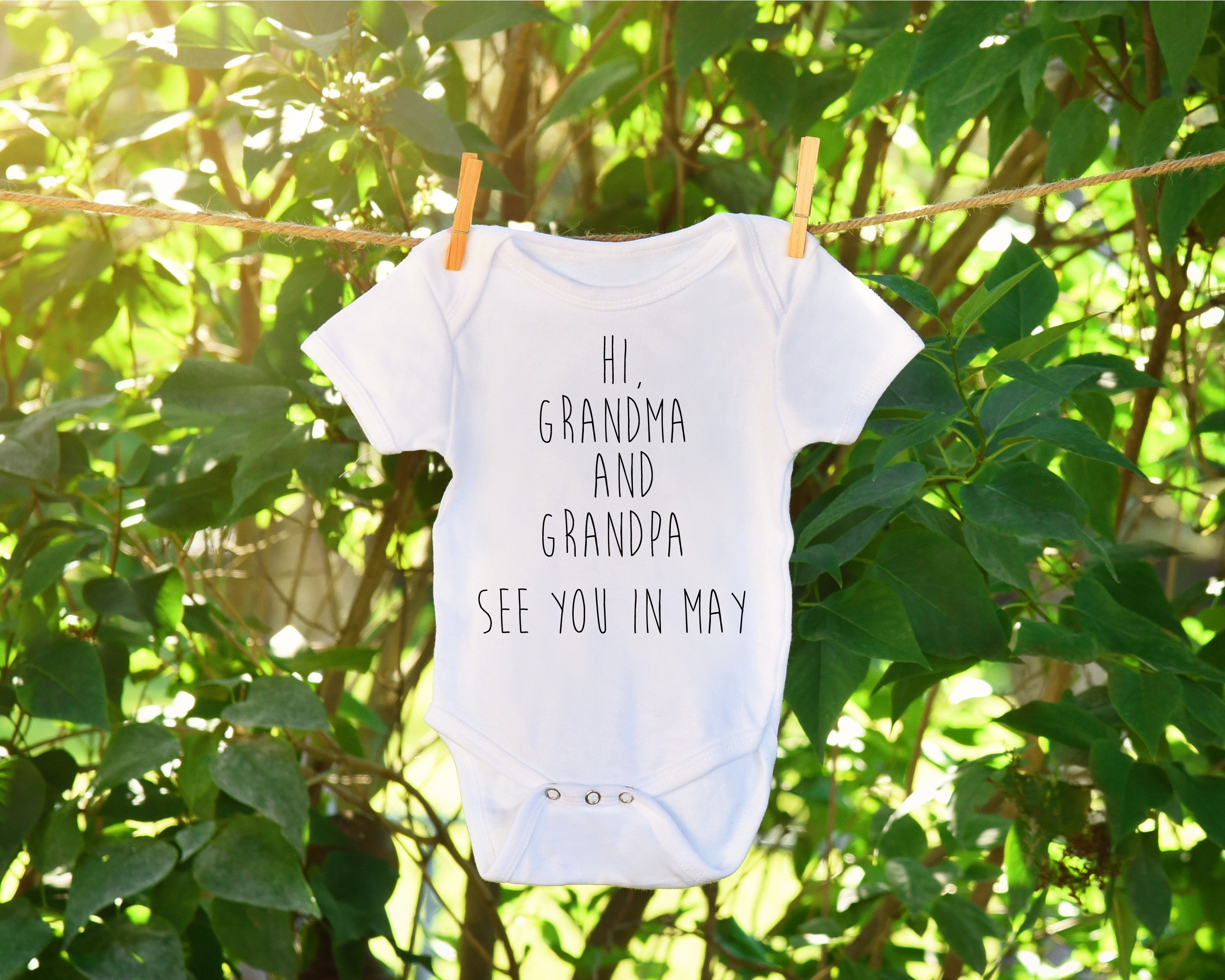 Baby Announcement Baby Announcement Onesie Grandparent baby – Grandparents Announcement Baby