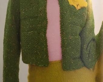 PDF Knit Cropped Cardigan Jacket (EASY)