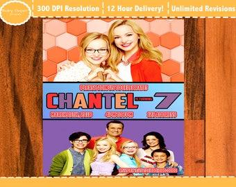 Liv and Maddie birthday invitation, Liv & Maddie party invite, Liv and Maddie printable invite