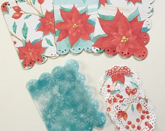 Christmas Poinsettia Dashboard Set