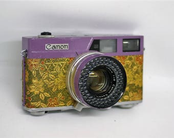 Canon Canonet 60's VIntage RangeFinder 35mm Film Camera 45mm f1.9 Lens Refubished and Japanese style repaint #03 'Purple'