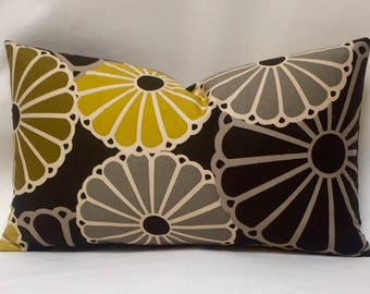 "12 x 19"" Retro Pillow Cover - Designer Fabric - Parasols by Thomas Paul - Modern Designer Accent Pillow - Modern Throw Pillow"