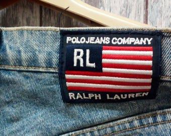 Polo Jeans Company Ralph Lauren Jeans Button Design Size 30