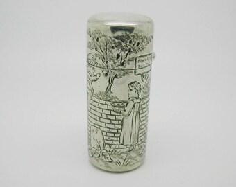 Sampson Mordan / Kate Greenaway silver scent bottle. SM. 1884