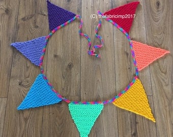 Knitted Rainbow Bunting