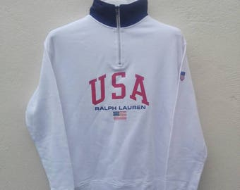 polo sport ralph lauren USA american flag big logo spell out M size
