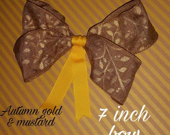 Autumn gold big bow