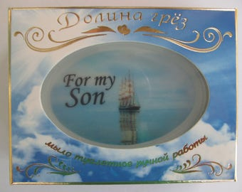 for son, a gift for the daughter, a gift from the grandmother,soap, a gift for the girl,soap with a photo.