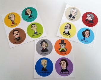 Classical Composer Stickers