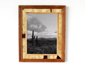 "SMALL Rustic ""Western"" Reclaimed Wood Frame (Light Brown) - rustic frames / rustic wooden frames / western frame / reclaimed wood frame"