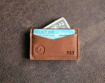 The Officially Licensed Crimson Tide Vernon Fine Leather Front Pocket Card Holder Wallet