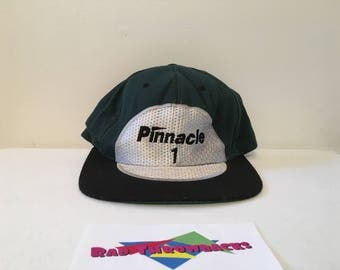 Rare Vintage Pinnacle One Golf Ball #1 American Needle Green/Black Snapback Dad Hat