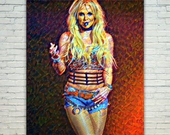 Britney Spears - Britney Poster,Britney Spears West Art,Britney Spears Print,Britney Spears Poster,Britney Spears Merch,Britney Spears Wall