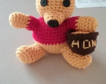 Hand made crochet Winnie the Pooh