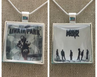 Linkin Park album cover photo pendant necklace/keychain.Linkin Park-hybird theory album pendant.Linkin Park-minutes to midnight album pendan