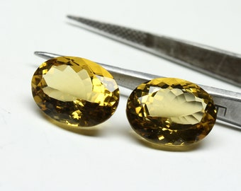 AAA Quality Natural Beer Quartz Size- 12x16x8 mm 2 PCs Shape Oval Faceted Jewellery Making Gemstone
