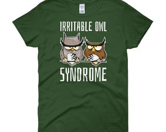 Irritable Owl Syndrome Owl Shirt   Women's short sleeve t-shirt