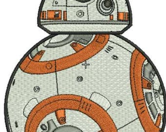 Star Wars BB 8 applique embroidery design