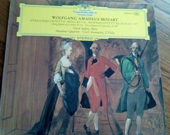 Wolfgang Amadeus Mozart String Quartet in G Minor/Horn Quintet in E flat Major Vinyl Lp Germany 70's 2530 012