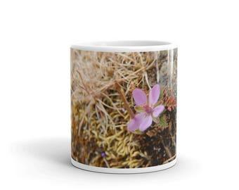 Pink Wildflower Ceramic Coffee Mug