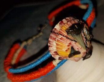 Seashell & Fossil Shark Tooth Bracelet/Anklet