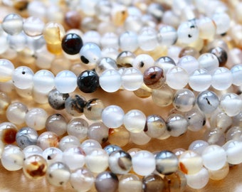 8mm Scenery Agate beads, full strand, natural stone beads, round, 80018