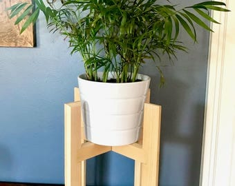 Modern Plant Stand with Rectangular Legs, Hand Made in USA, Home Decor