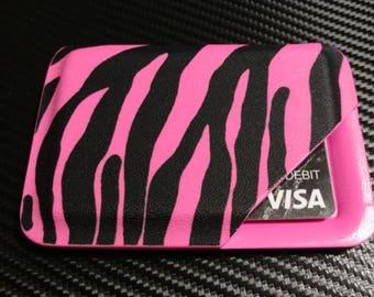 Kydex Minimalist Wallet in Pink Zebra
