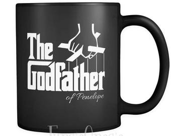 Personalized Godfather Mug - Perfect Gift for Godfather or Godmother