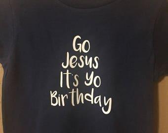 Jesus birthday kids shirt