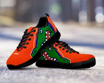 Florida Gators Football Fan Custom Black Running Shoes/Sneakers/Trainers - Ladies + Mens Sizes fan, collector, gift