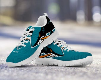 San Jose Sharks Custom Running Shoes/Sneakers/Trainers - Ladies + Mens Sizes fan, collector, gift