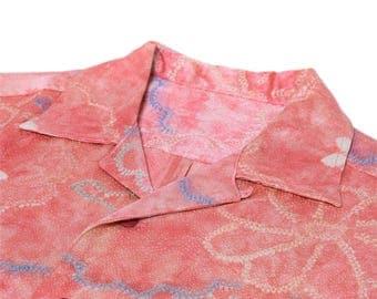 "Japanese ""KIMONO"" aloha antique shirt/jpam405"